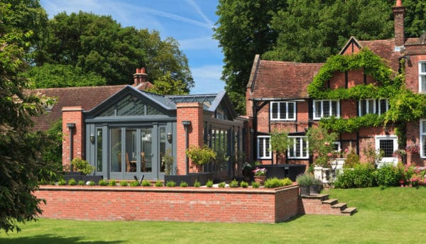 complement the best classic brick exterior with red brick gable design and greenhouse-style glass roofs