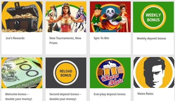 Joe Fortune Casino games