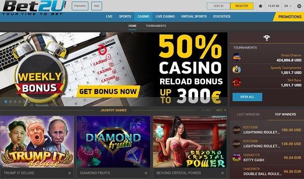 Bet 2 U Casino Bonuses
