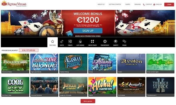 Royal Vegas Casino Online free spins bonus