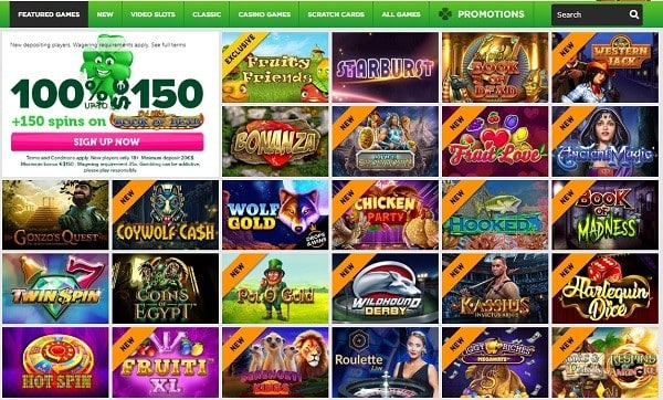 Casino Luck free spins on Book of Dead and welcome bonus