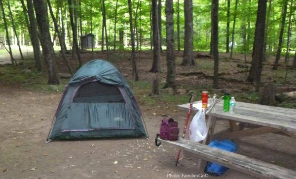 Our simple staycation camp site