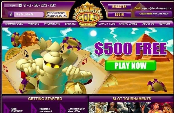 Register and claim $500 free bonus to MummysGold.com Online!