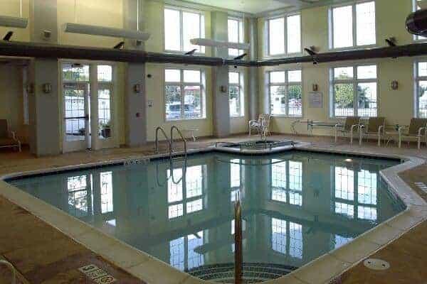 The pool at the watkins glen harbor hotel