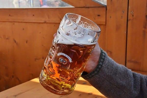 Beer mugs make fun but heavy vacation souvenirs.