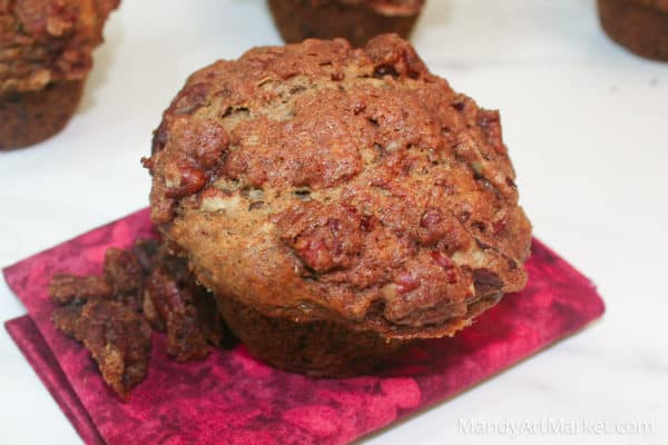 spiced banana praline muffins
