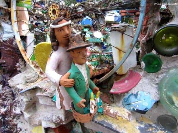 Peruvian statues at the magic garden in philadelphia