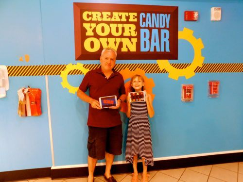 A chocolate bar of your own at creat your own candy bar