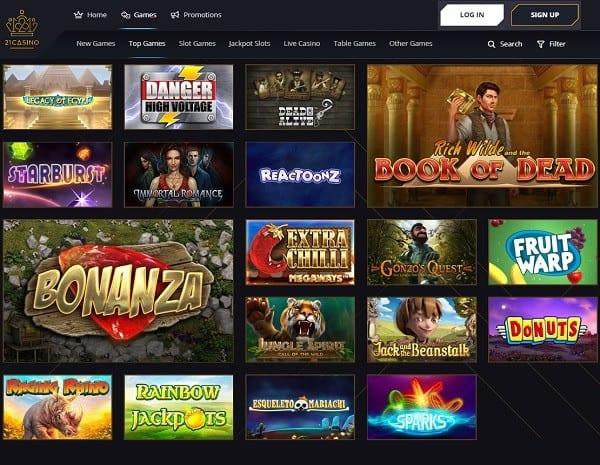 21 Casino free play games
