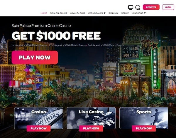 300% up to $1000 + 100 Free Spins + 50 No Deposit Free Spins