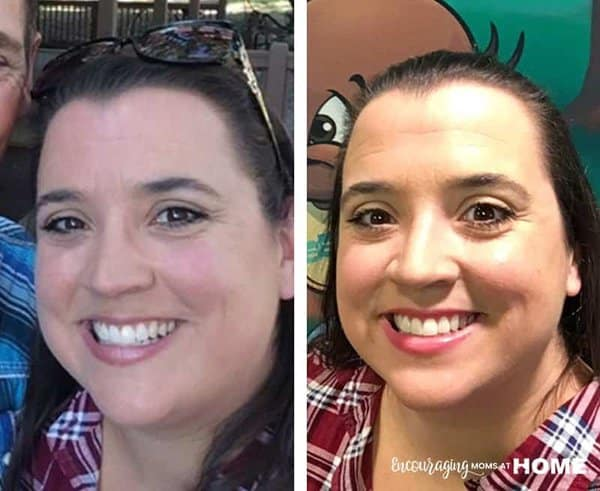 Mary - before and after Trim Healthy Mama Results plus Trim Healthy Mama Pizza Recipe in Post (THM)