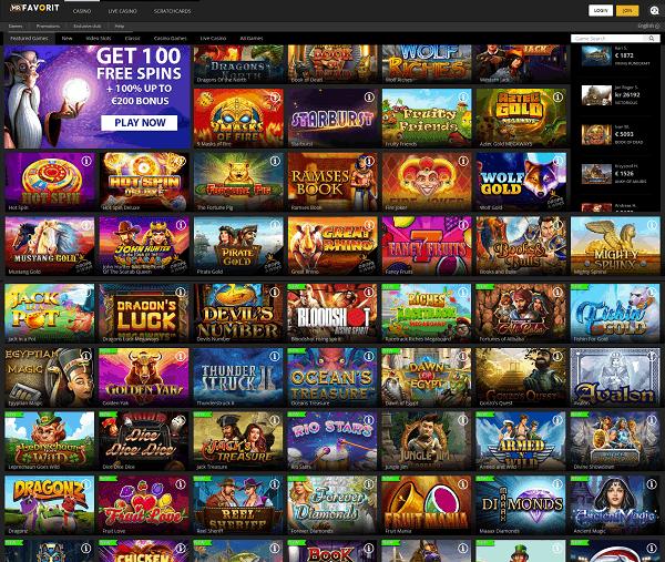 Mr Favorit Online Casino - new game, big jackpots, free spins!