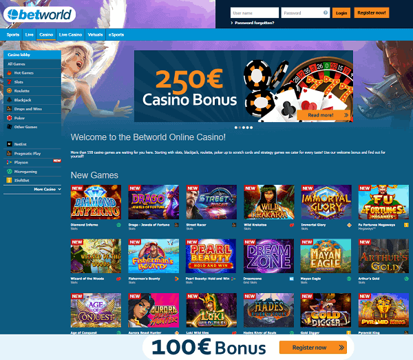Betworld Online Casino Review - 10/10!