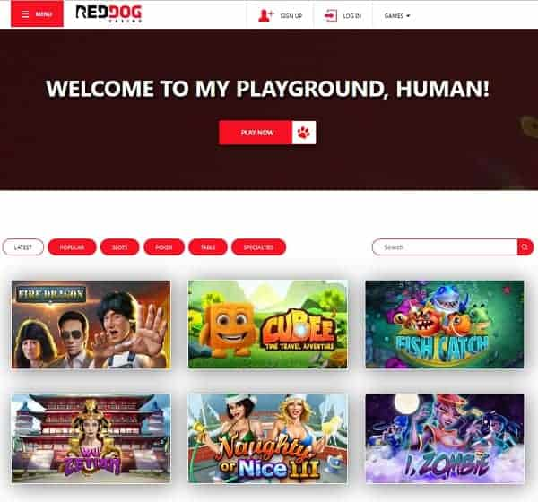 Red Dog Casino Review $25 free spins + 225% up to $12,200 bonus