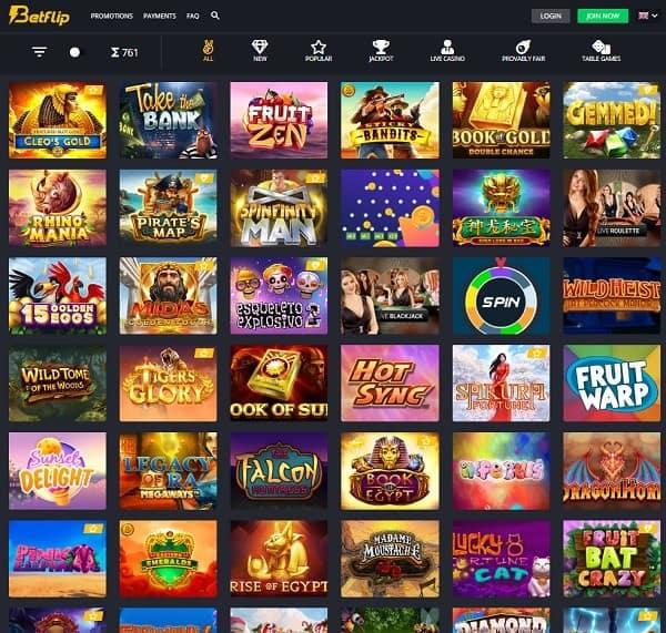 Betflip Casino is the best Bitcoin Casino Online