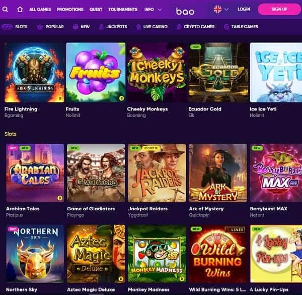 Bao Casino Review & Rating: 9.5/10.
