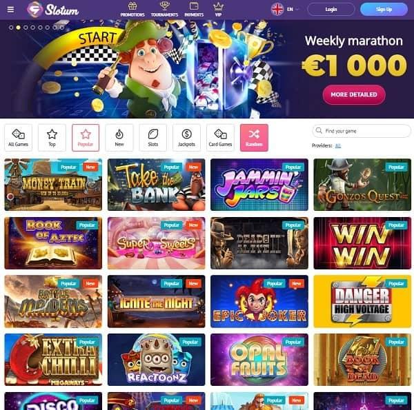 Slotum Casino free bonus code
