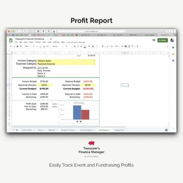 PTO finance software profit report spreadsheet