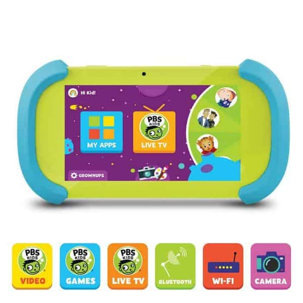 The pbs kids tablet is a parent pleaser with its apps, games and videos that feature favorite characters.