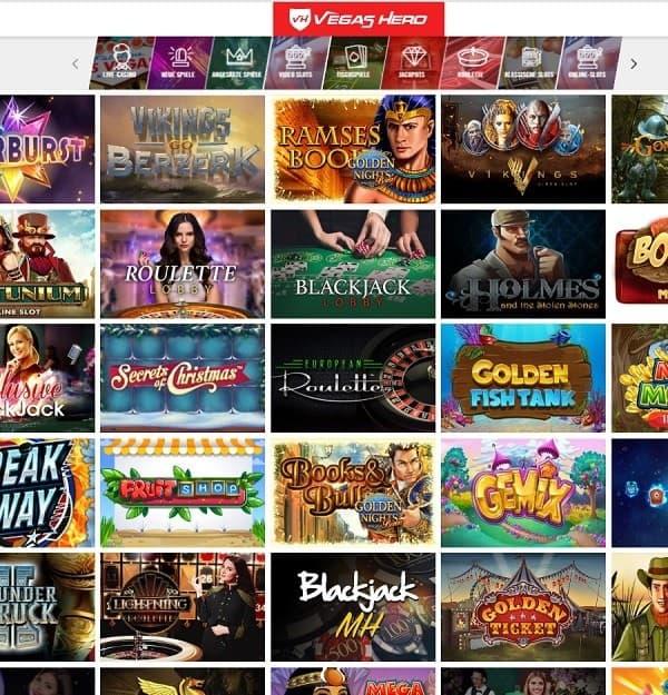 Vegas Hero Casino gratis spins