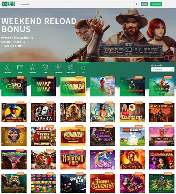 Dozen Slots Online Casino Free Bonus (REVIEW)