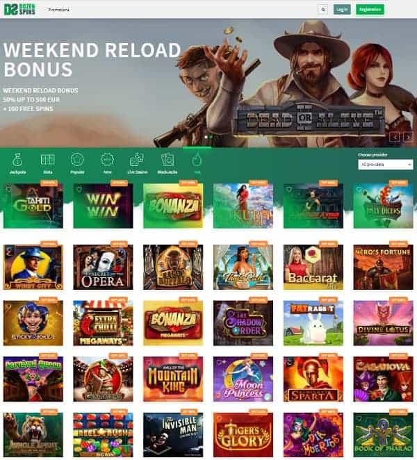 DozeSpins.com Casino Review
