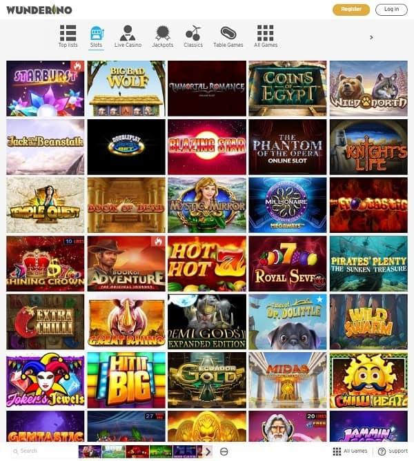 Wunderino Casino new bonuses and promotions