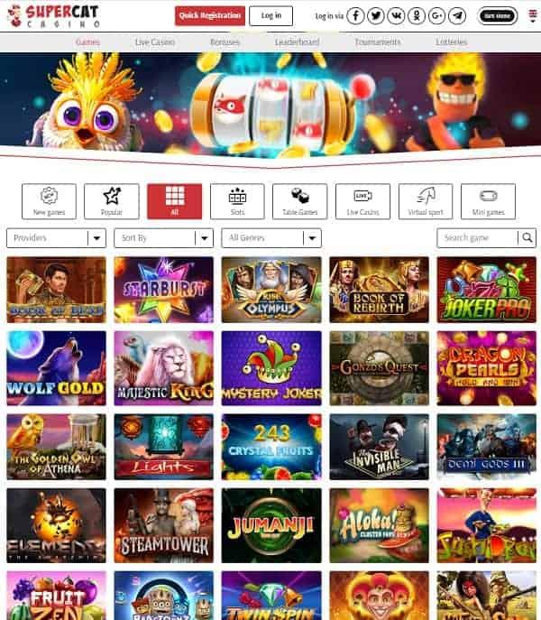SuperCat Casino Review Website