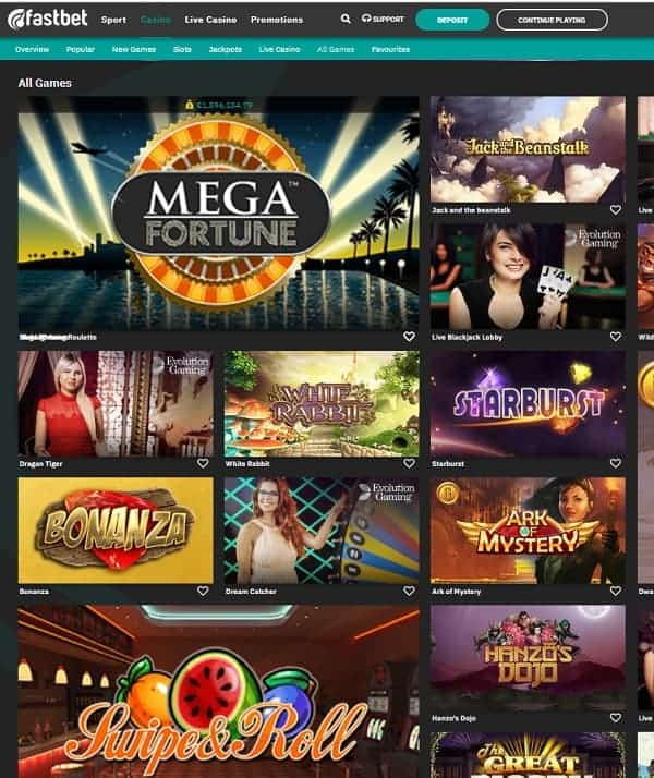 FastBet Casino Review - €50 bonus and free spins - Pay N Play Trustly