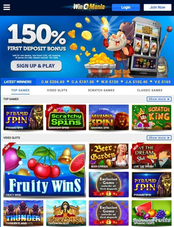 Win O Mania Casino Review