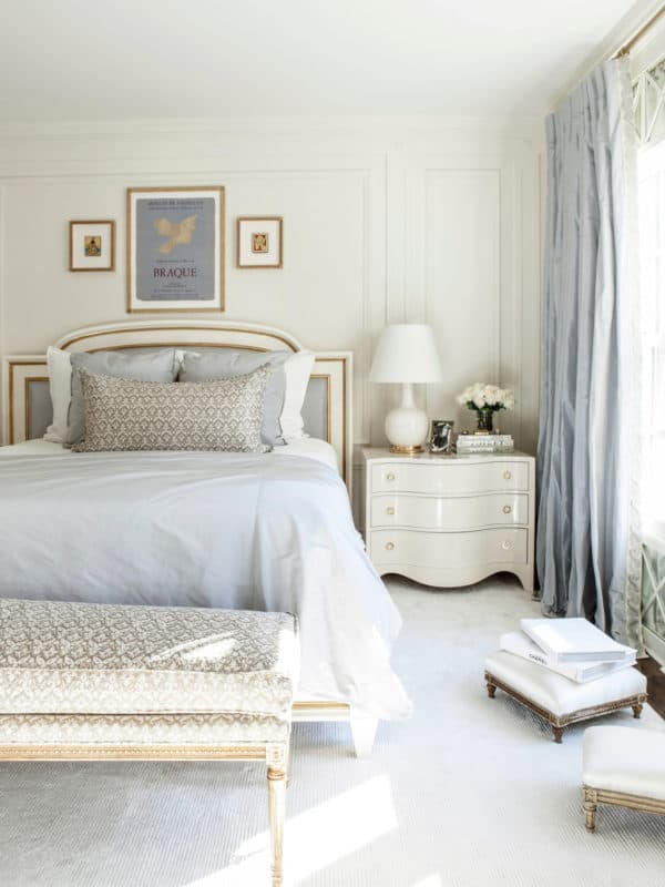 choose graceful and intricate white furniture with golden trimmings
