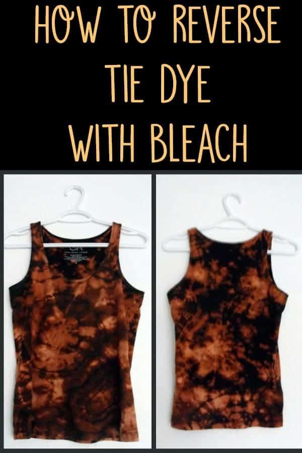 reverse tie dye with bleach