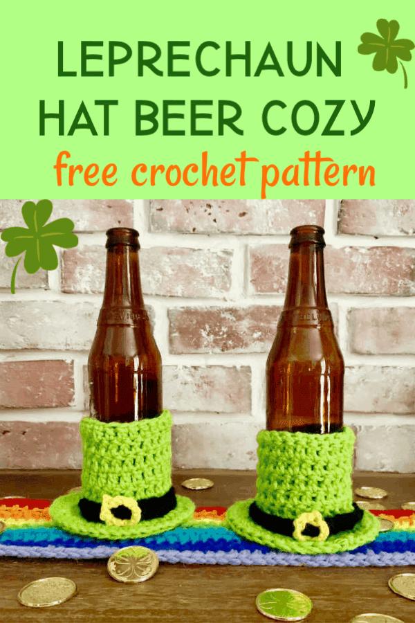 leprechaun hat beer cozy