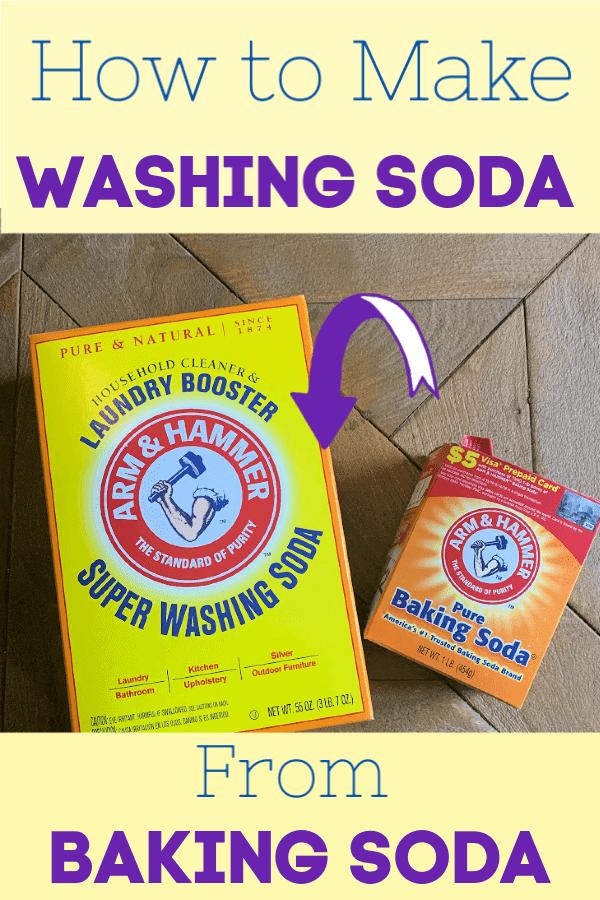 Washing soda vs baking soda