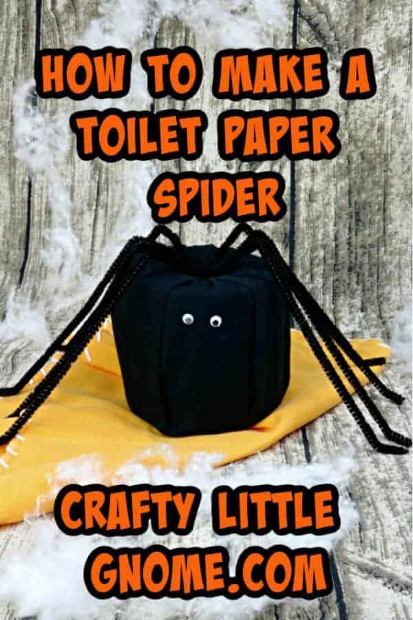 toilet paper spider on orange cloth