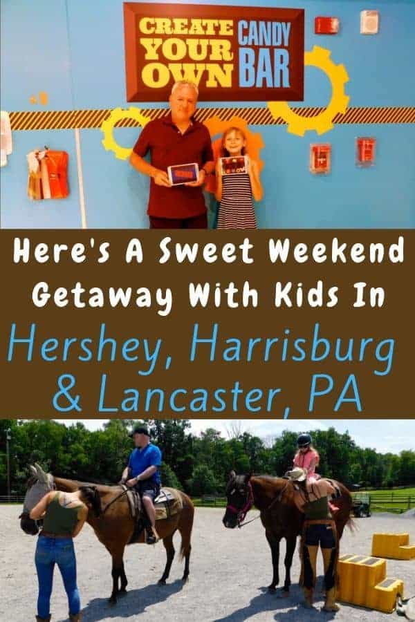 Here is where to find great places to eat, drink beer and stay on a hershey, pa vacation. Plus tips for hershey park. We also tell you all the things to do with kids in lancaster and harrisburg for a longer getaway. #hershey #hersheypark #kids #vacation #themepark #lancaster #harrisburg #weekendtravelideas #vacationwithkids