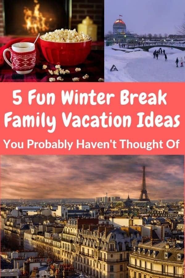 Here are 5 ideas you probably haven't thought of for affordable winter vacations with kids. #winter #vacation #ideas #kids