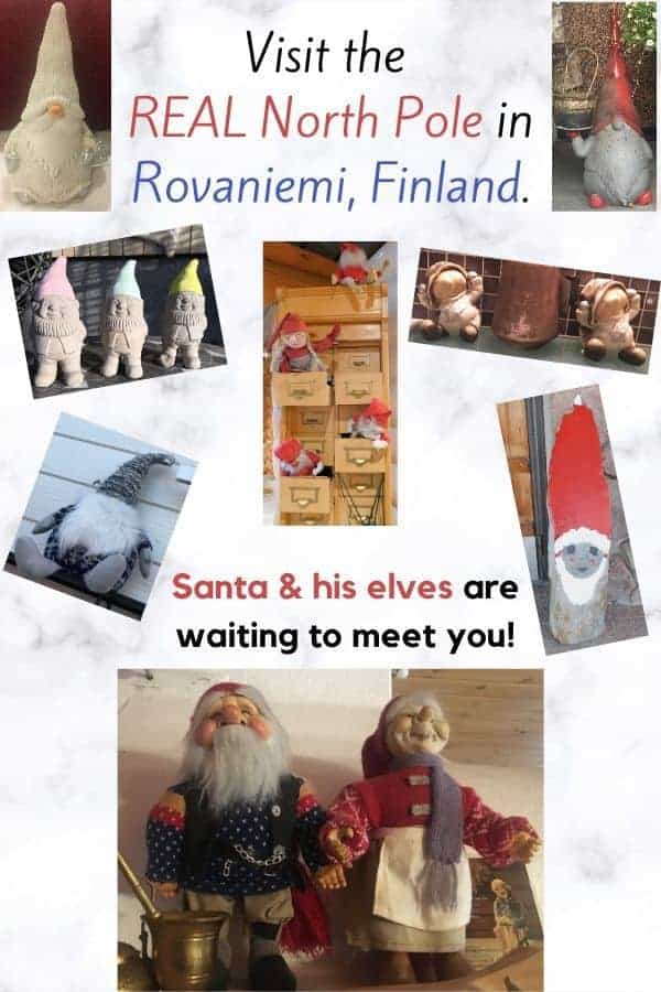 In lapland it's christmas all year round. Visit the north pole, send mail from santa's post office, stay in yuletide themed hotels and see elves. A lot of elves. #laplamd #rovaniemi #santaclaus #northpole #santaspostoffice #elves #christmas #realsanta #vacationwithkids #laplandwithkids