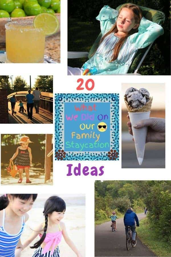 Make your staycation feel like a vacation with these 20 ideas for getting out of the house, having fun, relaxing and making memories with your kids. #staycation #ideas #inspiration #family #kids