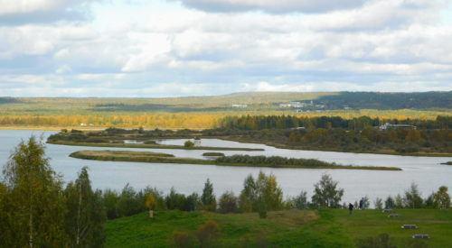 Fall scenery outside of rovaniemi, finland