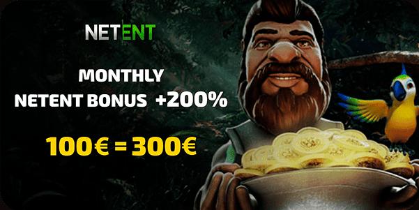 200% bonus on netent casino games