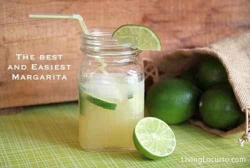 Easy Margarita Recipe in a Jar via Amy Locurto at LivingLocurto.com