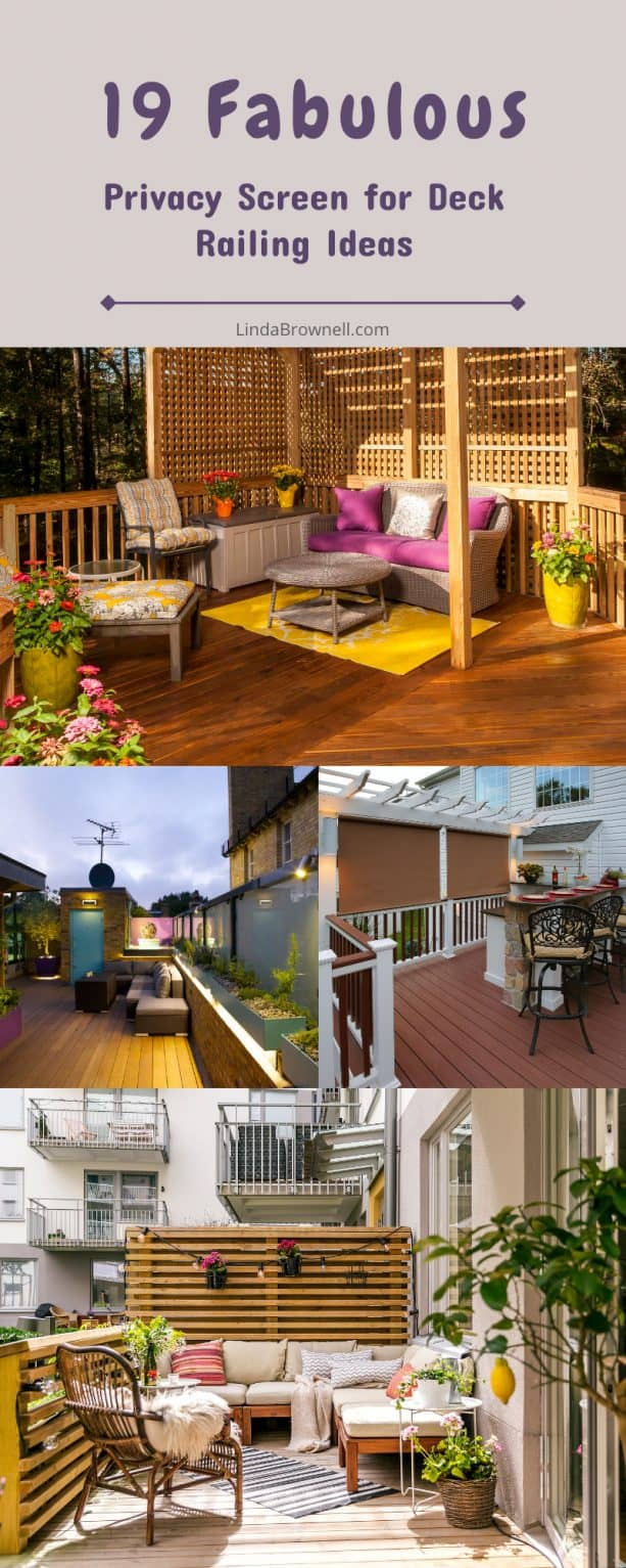 19 privacy screen for deck railing ideas