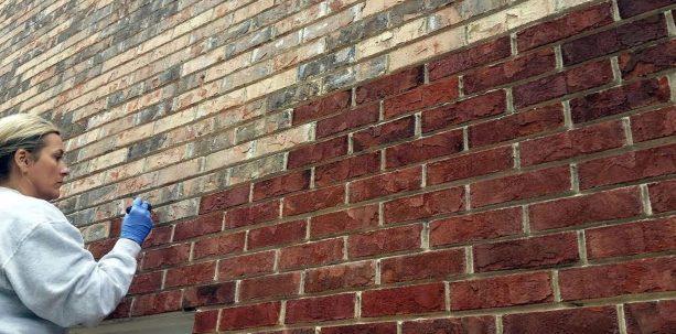 brick-staining process