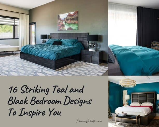 16 Striking Teal and Black Bedroom Designs To Inspire You