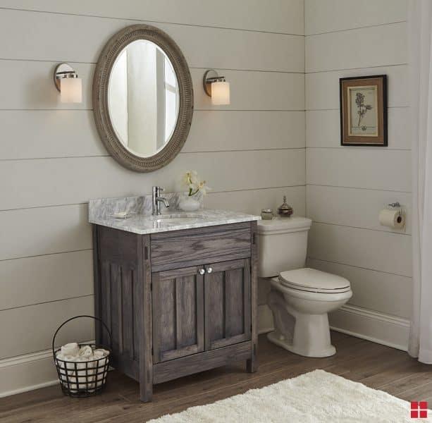 bathroom vanity sink with Wood Accelerator finish