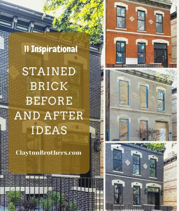 11 Stained Brick Before and After Ideas