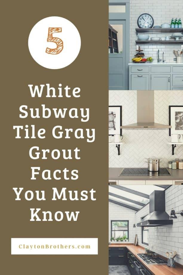 White Subway Tile Gray Grout