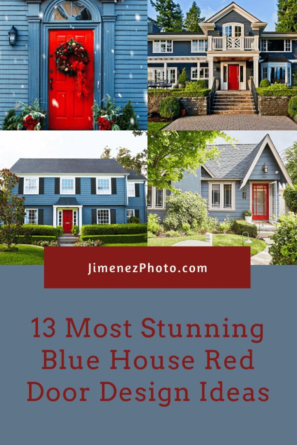 Blue House Red Door