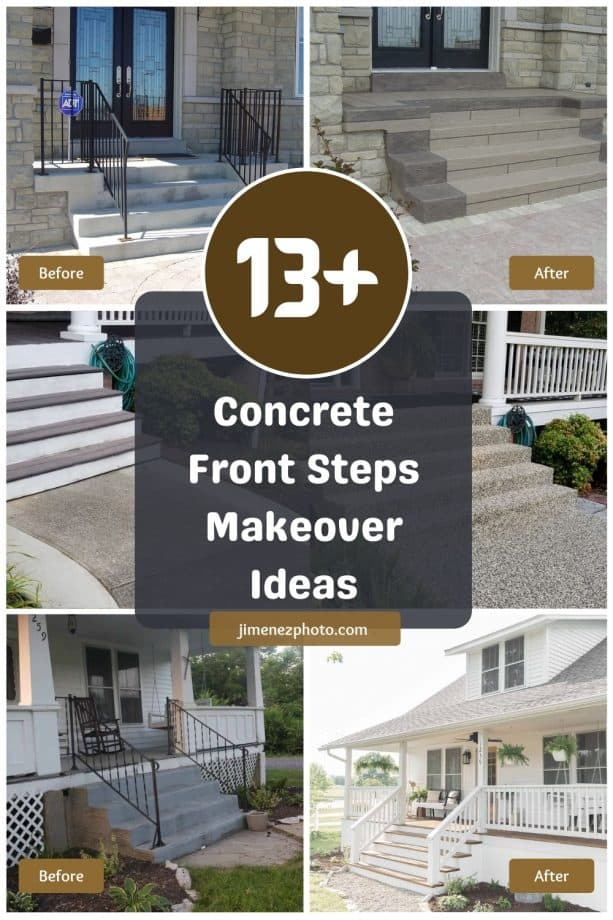 13+ Fascinating Concrete Front Steps Makeover Ideas for Curb Appeal Booster